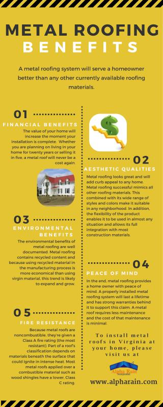 Know about the Benefits of Metal Roofing