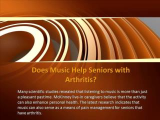 Does Music Help Seniors with Arthritis