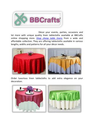Collections of cheap table linen for decoration