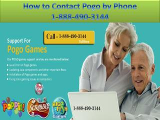 How to Contact Pogo by Phone| 1-888-490-3144