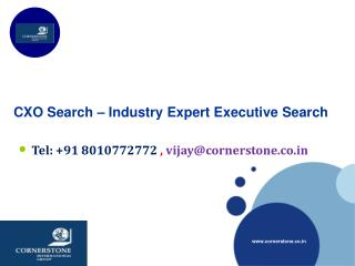 CXO Search – Industry Expert Executive Search