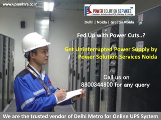 Commercial UPS and UPS Battery Dealer in Noida, Greater Noida, Delhi-Contact Power Solutions Noida | 8800344800