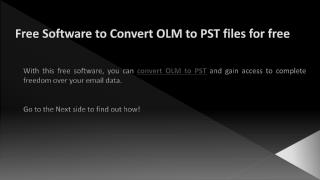 Free Software to Convert OLM to PST