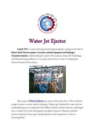 Water Jet Ejector