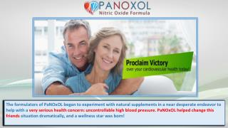 Lower Blood Pressure with Panoxol