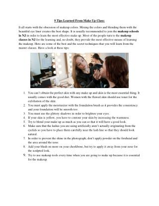 9 Tips Learned From Make Up Classes