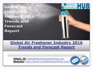 Global Air Freshener Industry 2016, Trends and Forecast Report