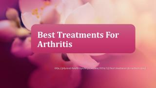 Best Treatment For Arthritis