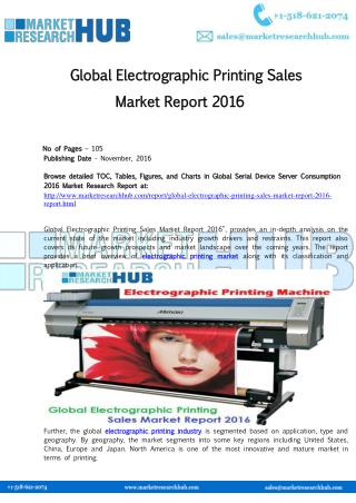 Global Electrographic Printing Sales Market Report 2016