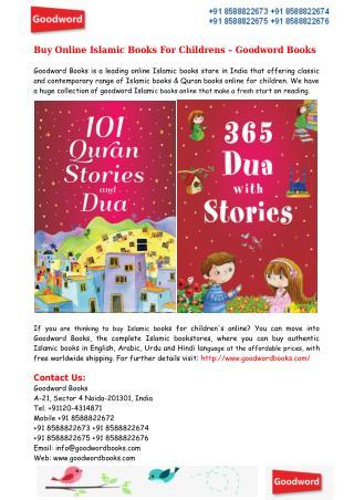 Buy Online Islamic Books For Children – Goodword Books