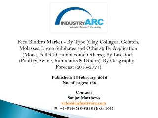 Feed Binders Market: binder paper is increasingly being used in cattle and ruminants feed for cellulose contents.