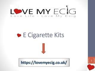 Electronic Cigarette Starter Kit - LOVE MY ECIG