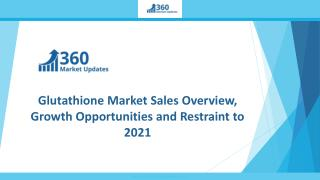 Glutathione Market Sales Overview, Growth Opportunities and Restraint to 2021