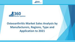Osteoarthritis Market Sales Analysis by Manufacturers, Regions, Type and Application to 2021
