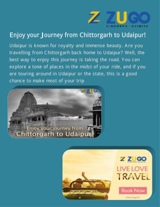 Enjoy your Journey from Chittorgarh to Udaipur!