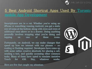 5 Best Android Shortcut Apps Used By Toronto Mobile App Development
