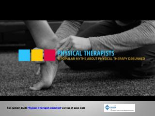 Myths of Physical Therapists