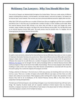 Corinth Tax Lawyers