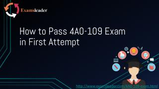 Examsleader 4A0-109 Exam Questions