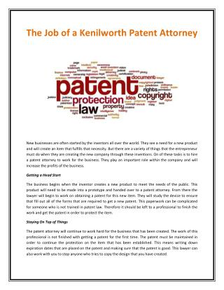 Kenilworth Patent Attorneys
