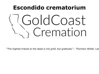 Cremation services in Escondido