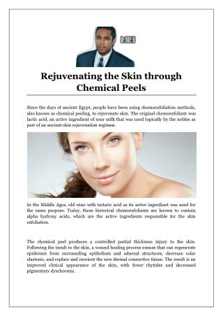 Rejuvenating the Skin through Chemical Peels