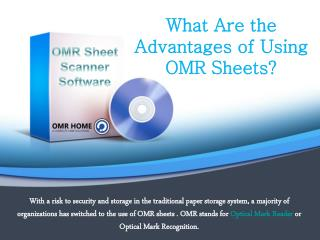 What Are the Advantages of Using OMR Sheets?