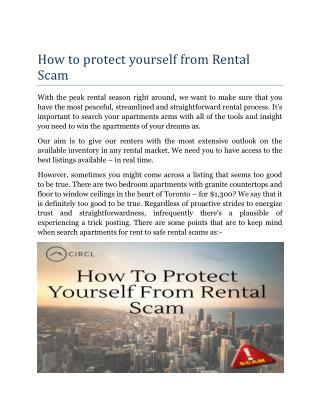 How to protect yourself from Rental Scam