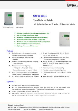 G09-O3 Series Ozone Monitor and Controller