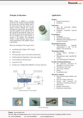 SO-B0-960 Limiting Current Type Sensor Oxygen Sensors