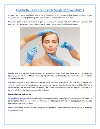 Elsmere Plastic Surgery