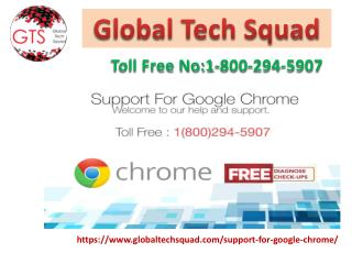 Support for Google Chrome USAToll Free:1-800- 294-5907