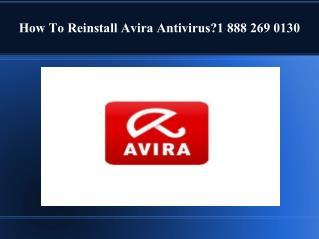 How to reinstall avira antivirus ?