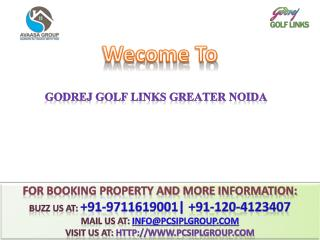 Godrej Golf Links @#  91-8010581581 #@ Godrej Villas