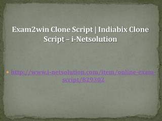Exam2win Clone Script | Indiabix Clone Script – i-Netsolution