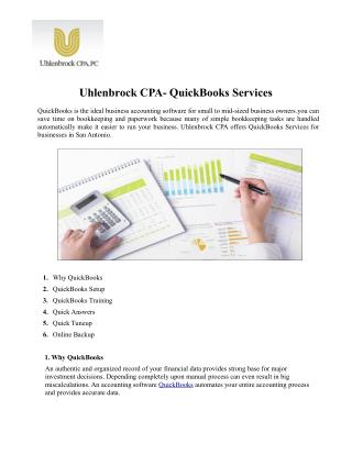 Uhlenbrock CPA offers QuickBooks Services in San Antonio