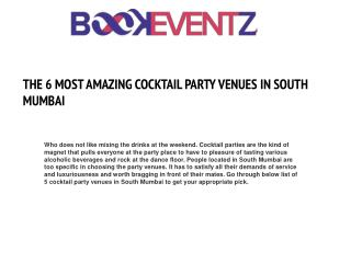 THE 6 MOST AMAZING COCKTAIL PARTY VENUES IN SOUTH MUMBAI BookEventZ