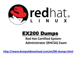 Latest Dumps-Latest RedHat EX200 Exam Questions