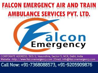 Get Reliable Air Ambulance Services in Delhi by Falcon Emergency