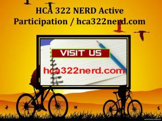 HCA 322 NERD Active Participation / hca322nerd.com