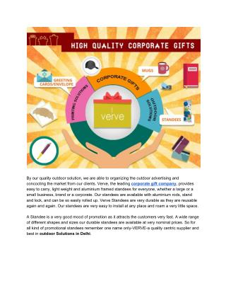 High Quality Corporate Gifts | Outdoor Solutions India