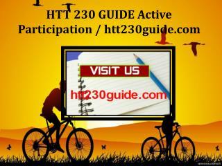 HTT 230 GUIDE Active Participation / htt230guide.com