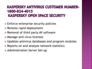 Kaspersky Tech Support Phone  1800-824-4013 Number