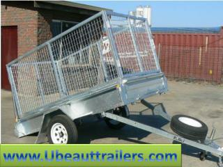 Ubeaut Trailers 9×5 Galvanised Tandem Tipper with 1000mm Cage 2000kg ATM