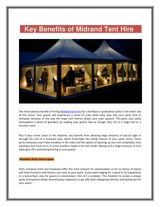 Midrand Tent Hire