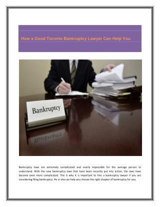 Markham bankruptcy lawyers