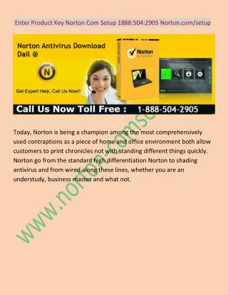 Enter Product Key Norton Com Setup 1 888(504)2905