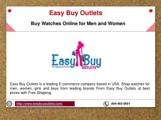 Buy Watches online for Men and Women | Easy Buy Outlets