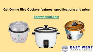 Get Online Rice Cookers features, price