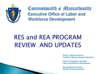 RES and REA PROGRAM  REVIEW  AND UPDATES